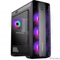 GameMax Корпус Moonlight FRGB Black (без БП, Окно, USB3.0, HD Audio, 4*120 LED вент+упр)
