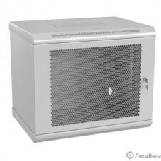 Hyperline TWL-1545-SD-RAL7035 Шкаф настенный 19-дюймовый (19″), 15U, 775x600x450mm, металлическая перфорированная дверь, несъемные стенки, 1 пара профилей, цвет серый (RAL 7035) (собранный)