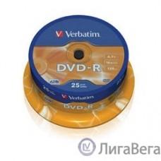 Verbatim  Диски DVD-R   4.7Gb 16-х, 25шт, Cake Box (43522)