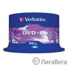 Verbatim  Диски DVD+R  4.7Gb 16-х , 50 шт, Cake Box (43550)