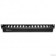 5bites Панель-органайзер кабеля CM-101B ГРЕБЕНКА / КРЫШКА / 1U / 19″ / BLACK