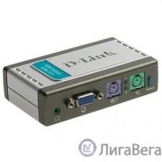 D-Link KVM-121/B1A 2-портовый KVM-переключатель с портами VGA и PS/2 (кабели в комплекте)